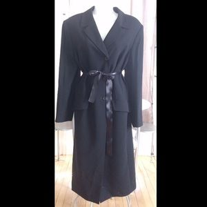 VINTAGE LONG MAXI DUSTER BLACK LARGE JACKET